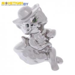 Копилка «Кошка Мадам» серебро