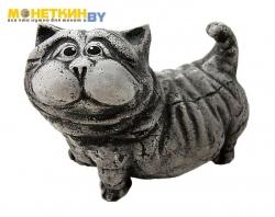 Копилка «Кот Пряник №1» серый