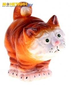 Копилка «Кот стоя Васек» рыжий