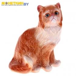 Копилка «Кот персидский» рыжий глянец