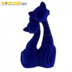 Копилка «Коты пара Свидание» синий