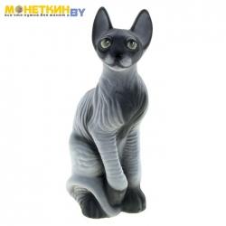 Копилка «Кот Сфинкс» серый