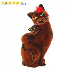 Копилка «Кошка Мама» коричневая