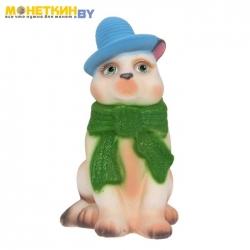 Копилка «Кот в шарфе» белый