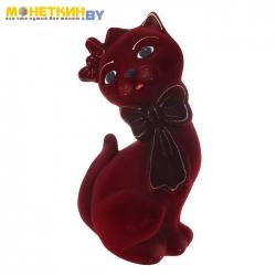 Копилка «Кот Джаспер» бордовый