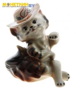 Копилка «Кошка Мадам» глянец черно – коричневая