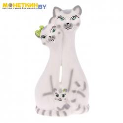 Копилка «Коты семья» большая белая задувка