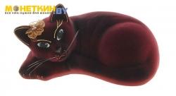 Копилка «Кошка Соня» бордовый