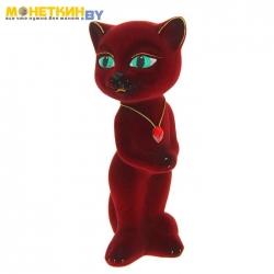Копилка «Кошка Анжела» бордовый