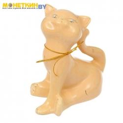 Копилка «Кошка Анфиса» малая глазурь кремовая веревка