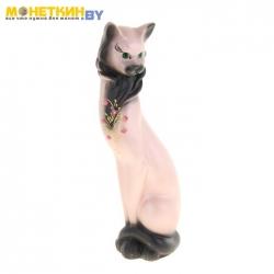 Копилка «Кот Васька» акрил стразы, розовый с черным
