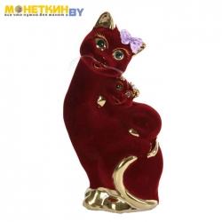 Копилка «Кошка Мама» бордо