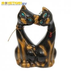 Копилка «Коты Поцелуй» черная