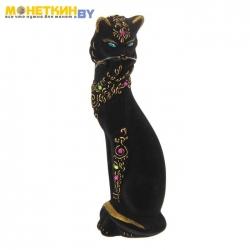 Копилка «Кошка с ожерельем» черный