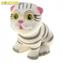 Копилка «Котик» малый серый