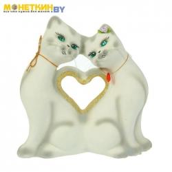 Копилка «Кошки Сердце» белый