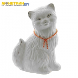Копилка «Кошка Сима» глянец белая
