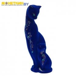 Копилка «Кошка мама» цвет синий