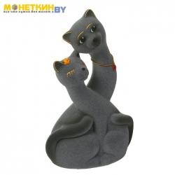 Копилка «Коты пара Инь – Янь» серый