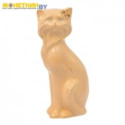 Копилка «Кошка Матильда» малая глазурь кремовая