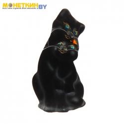 Копилка «Пара котов» черная