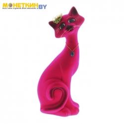 Копилка «Кот Маркиз» средний розовый
