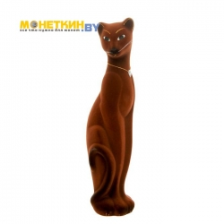 Копилка «Кошка Багира» коричневая