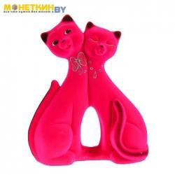 Копилка «Коты пара фантазия» розовый