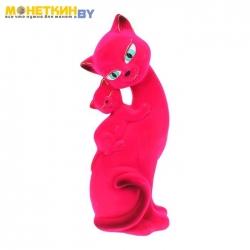 Копилка «Кошка Саманта – мама» розовый