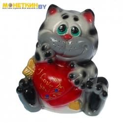 Копилка «Кот с сердечком»