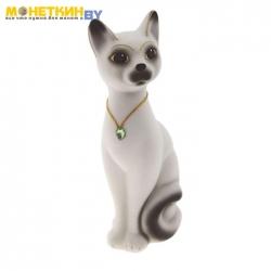 Копилка «Кот Кузя» малый белый