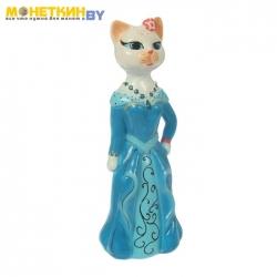 Копилка «Кошка Миледи» большая глянец белый