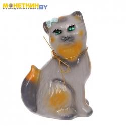 Копилка «Кошка Сима» глянец серый