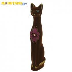 Копилка «Кот» средний коричневый