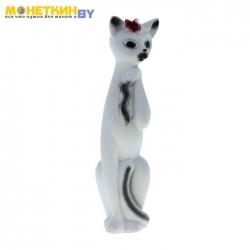 Копилка «Кошка Алиса» большая белая с черными линиями