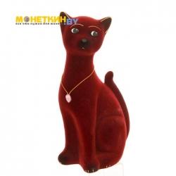 Копилка «Кот Марсик» бордовый