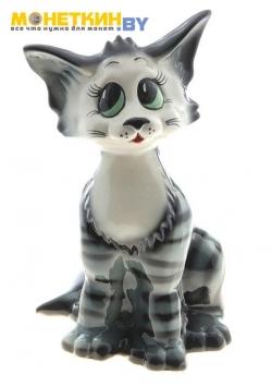 Копилка «Кошка Лизка» серый глянец