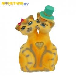 Копилка «Коты Жених и Невеста» желтые