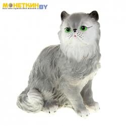 Копилка «Кот персидский» серый