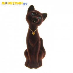 Копилка «Кот Матвей» большой коричневый