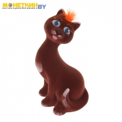 Копилка «Кошка молодая» коричневый