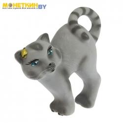 Копилка «Кот бублик» серый