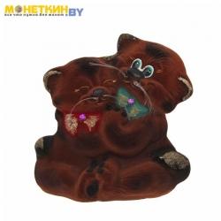 Копилка «Кот перс влюбленный» коричневый