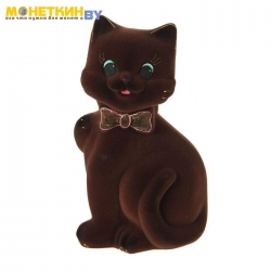 Копилка «Кот Бонни» коричневый