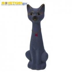 Копилка «Кот Мурзик» малый Серый