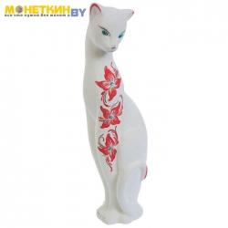 Копилка «Кошка багира» большая, цвет белый камни