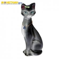Копилка «Кошка Камила» малая глянец черно – серый