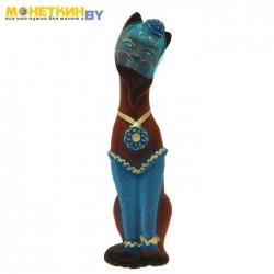 Копилка «Кошка Мишель» коричнево – синий