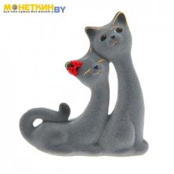 Копилка «Кошки Сладкая Пара» серая