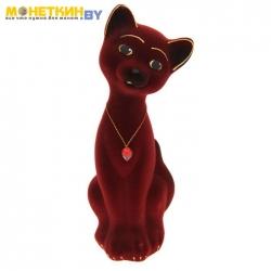 Копилка «Кот Матвей» малый бордовый
